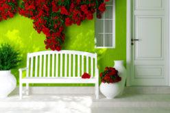 Open Porch Design for a Green House