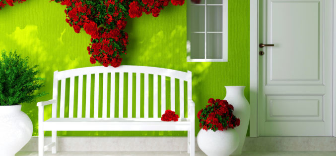 Open Porch Design for a Green House