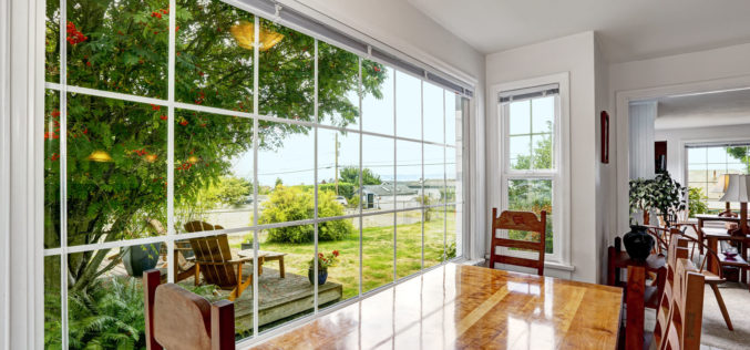 Using Large French Windows to Open Up a Landscaping View