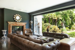 Classic Leather Furniture for a Class Backyard View