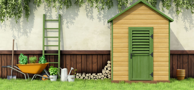 Wooden Shed for Storing Garden Tools