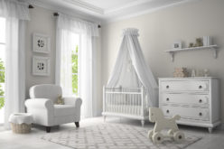 Classic Children Nursery Room in White