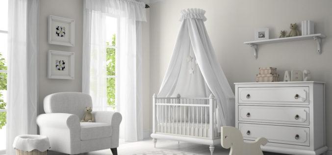 Classic Children Nursery Room in White