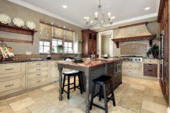 Luxury Kitchen with Granite Top Kitchen Island
