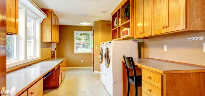 A Functional Utility Room with Laundry Facilities