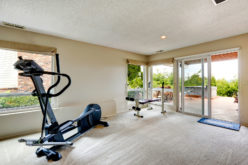Home Gym With Exit to Deck with Jacuzzi