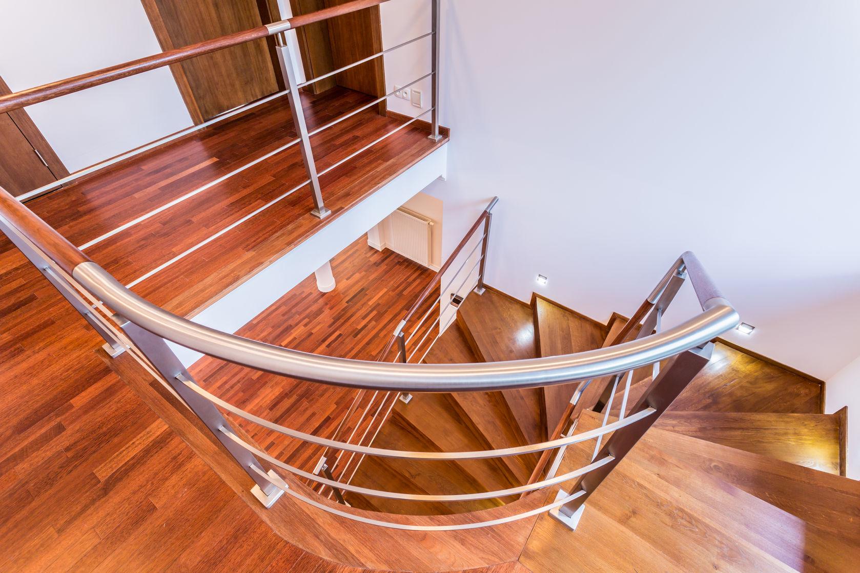 open spiral staircase