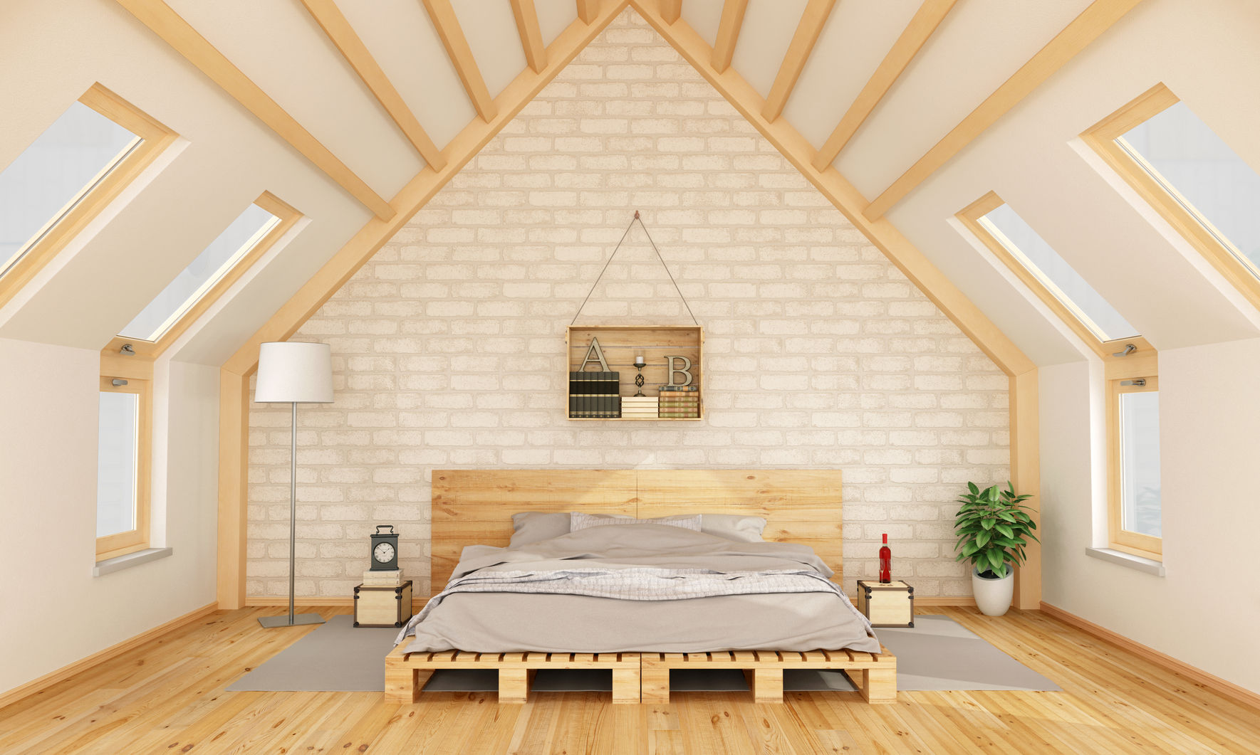 attic conversion for a bedroom