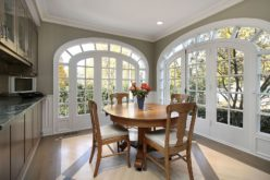 Small Dining Area with Circular Windows