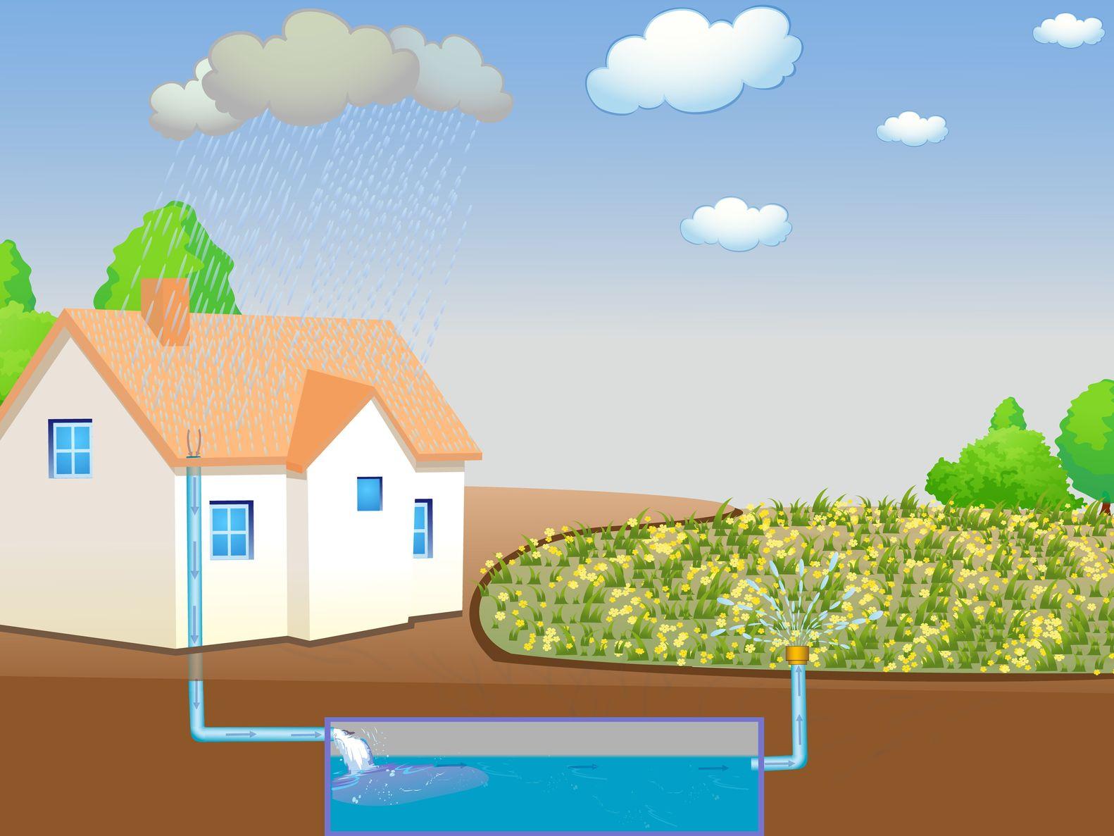 underground rain harvest tank