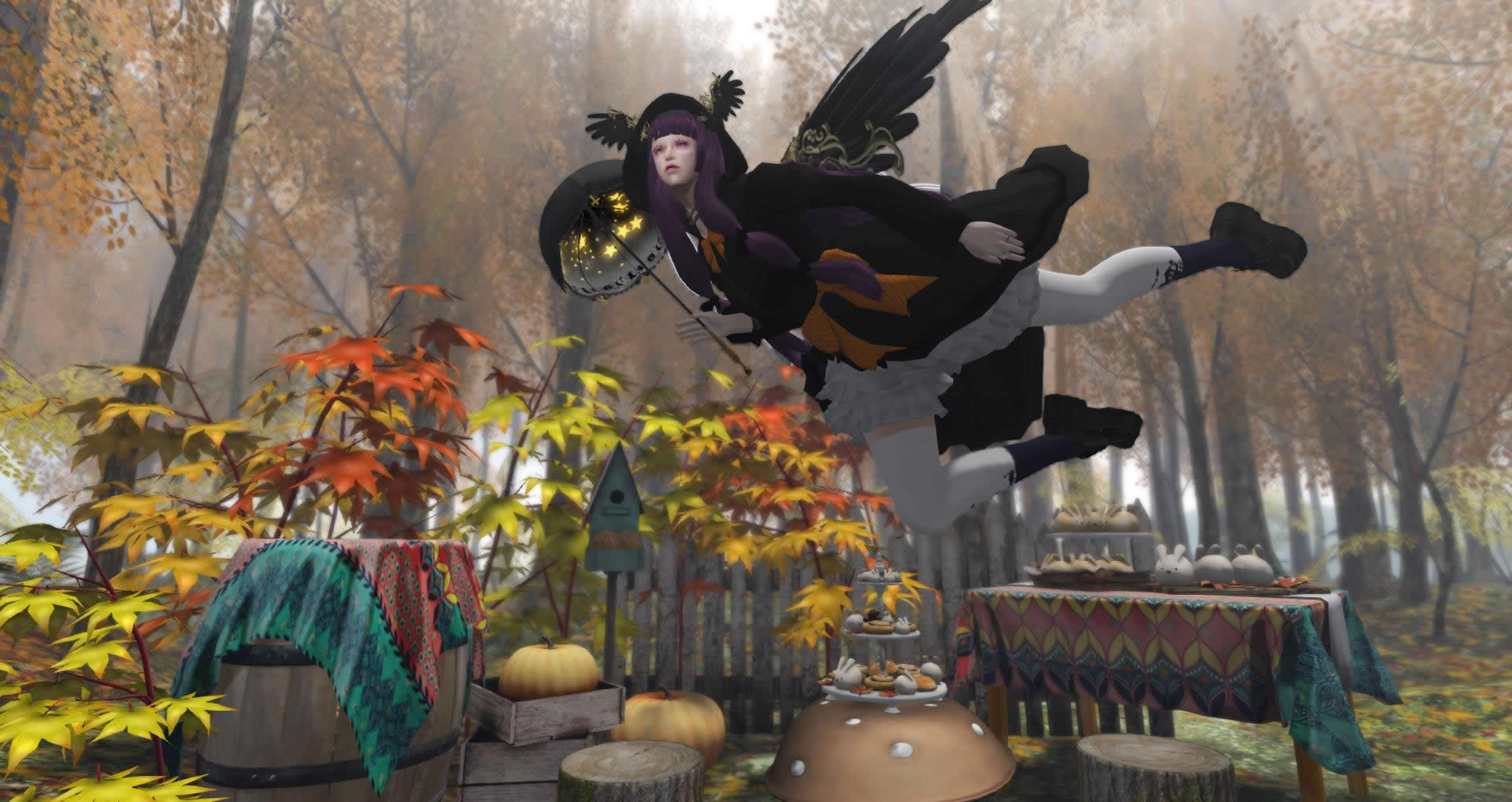 flying halloween witch