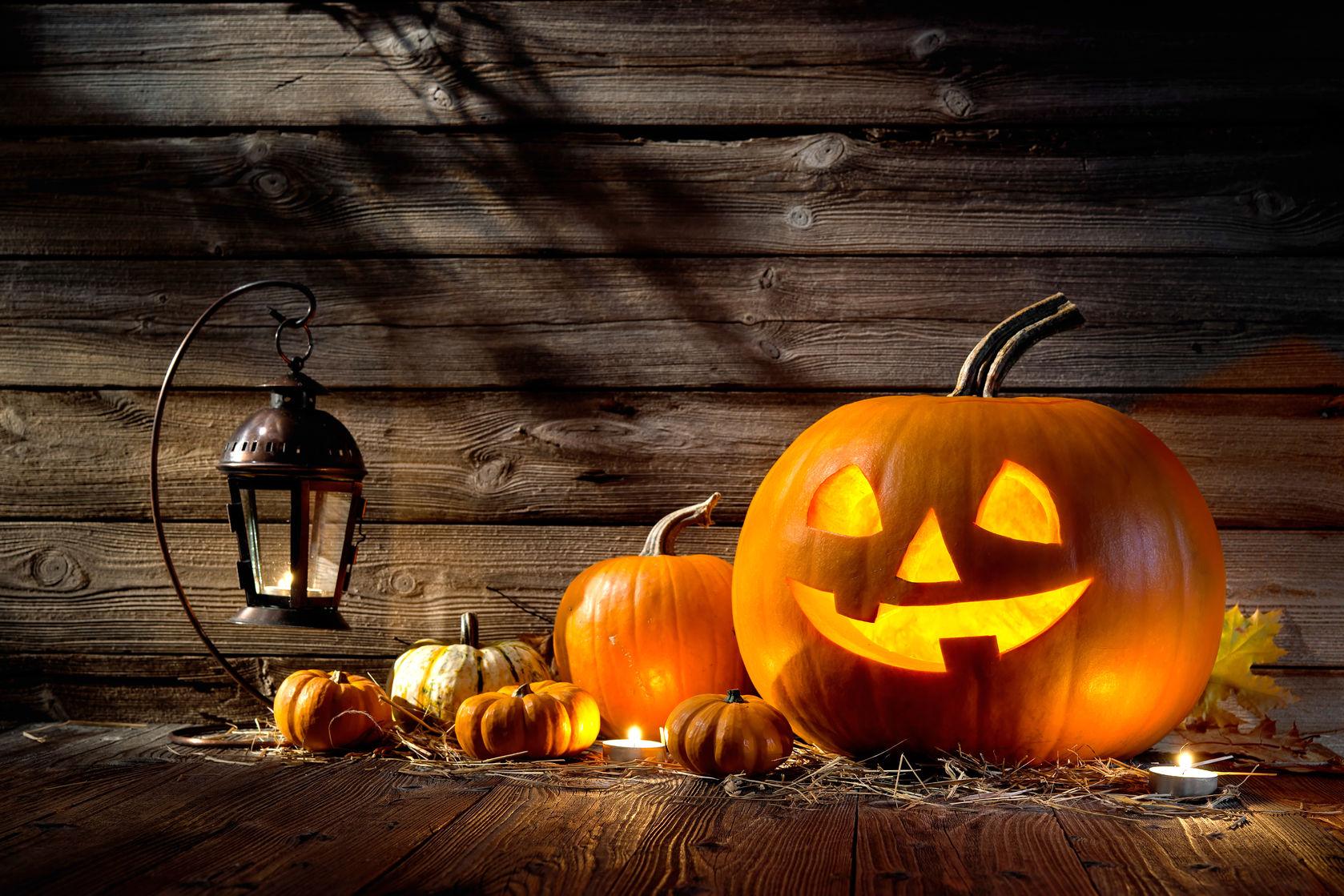 Halloween pumpkins lantern