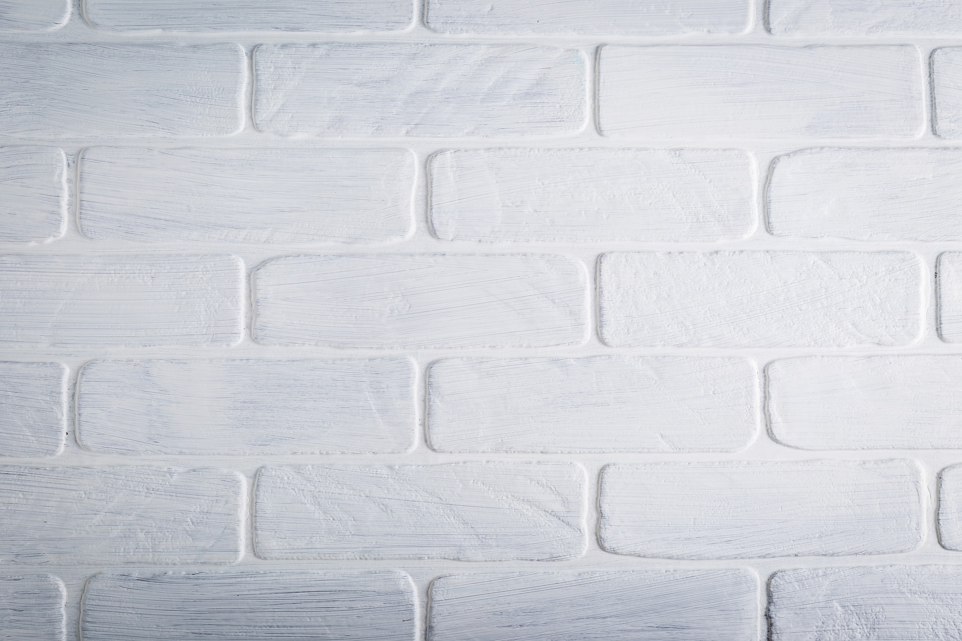white brick siding