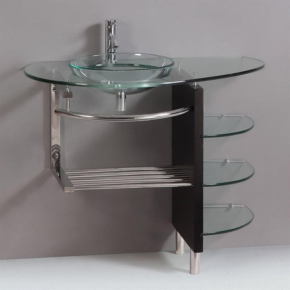 pedestal sink with shelf