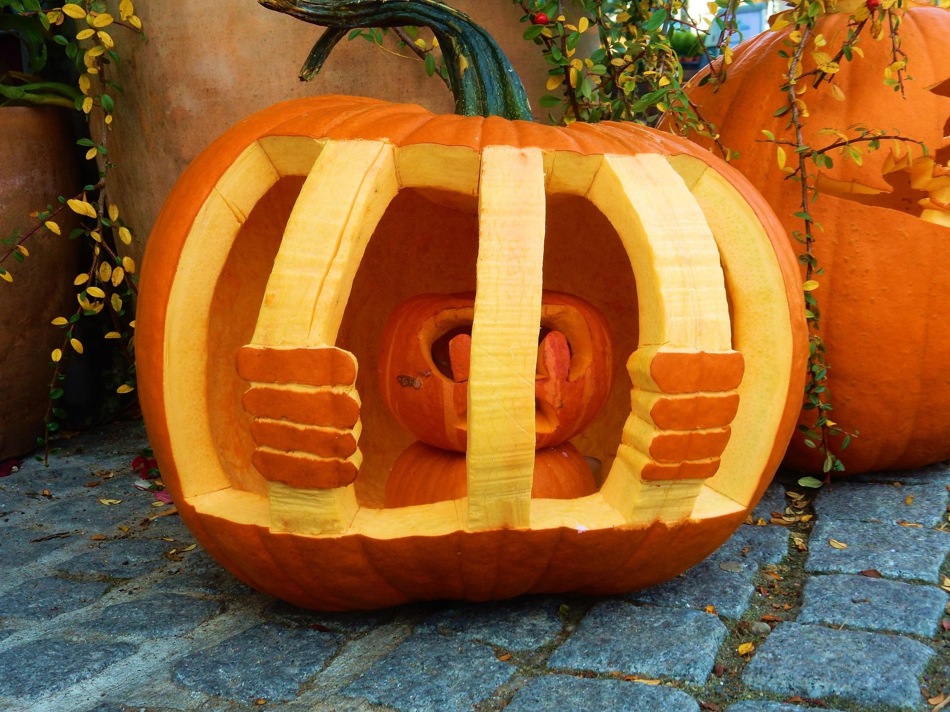 jailbird pumpkin carving