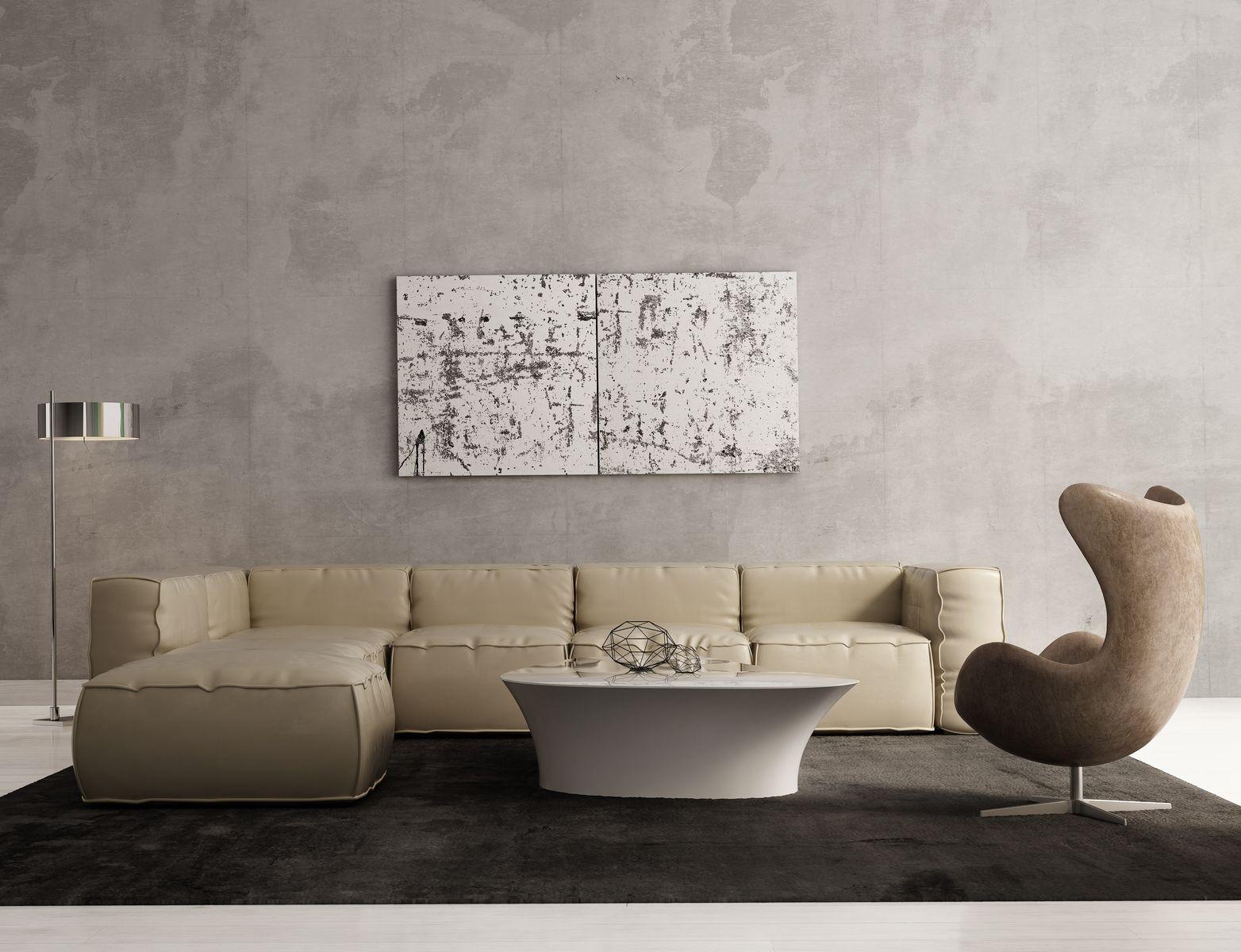 gray wall livng room