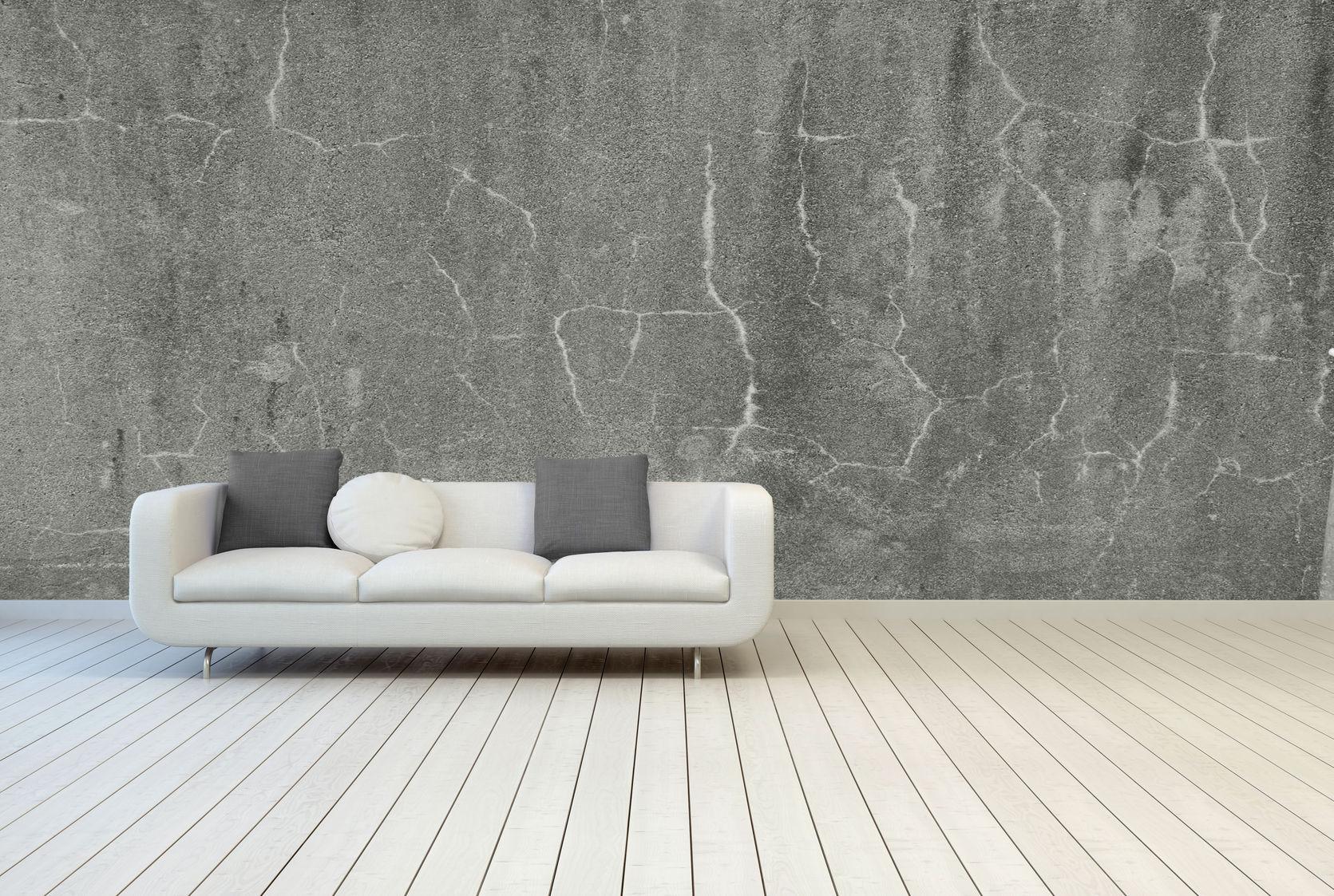 gray textured walls