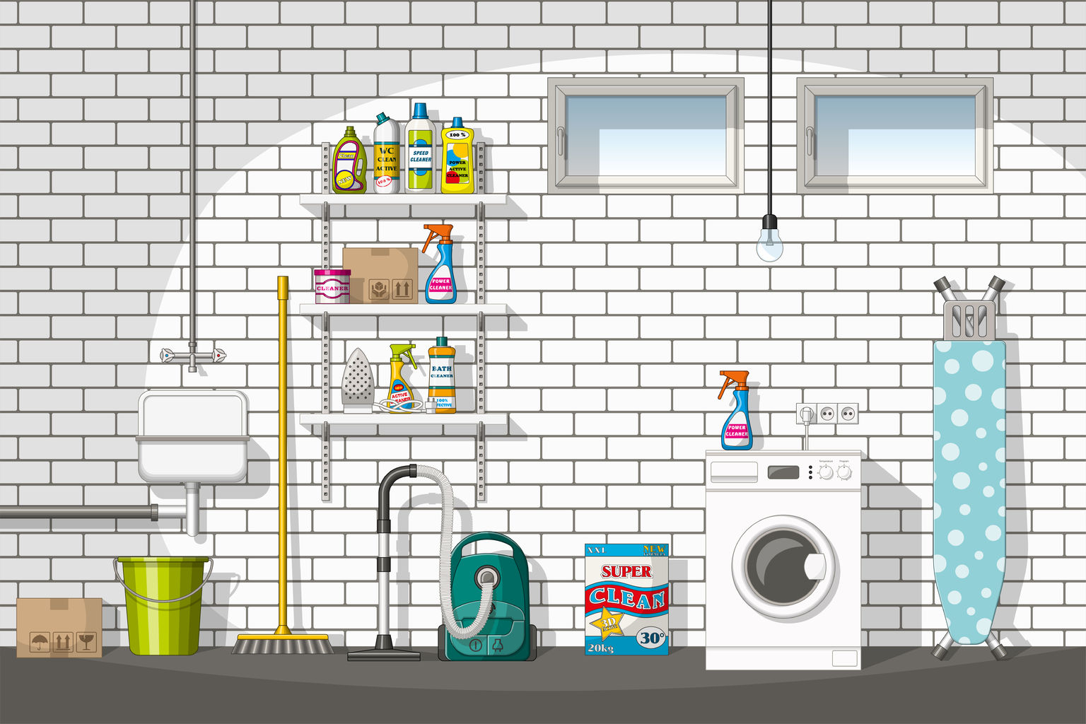 home utility room