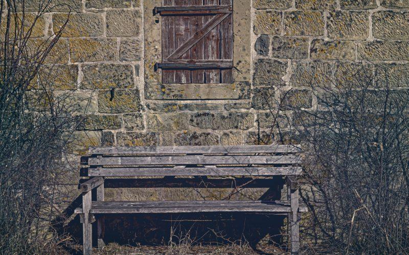 You Come Upon a Garden Bench as You Stroll Through the Garden