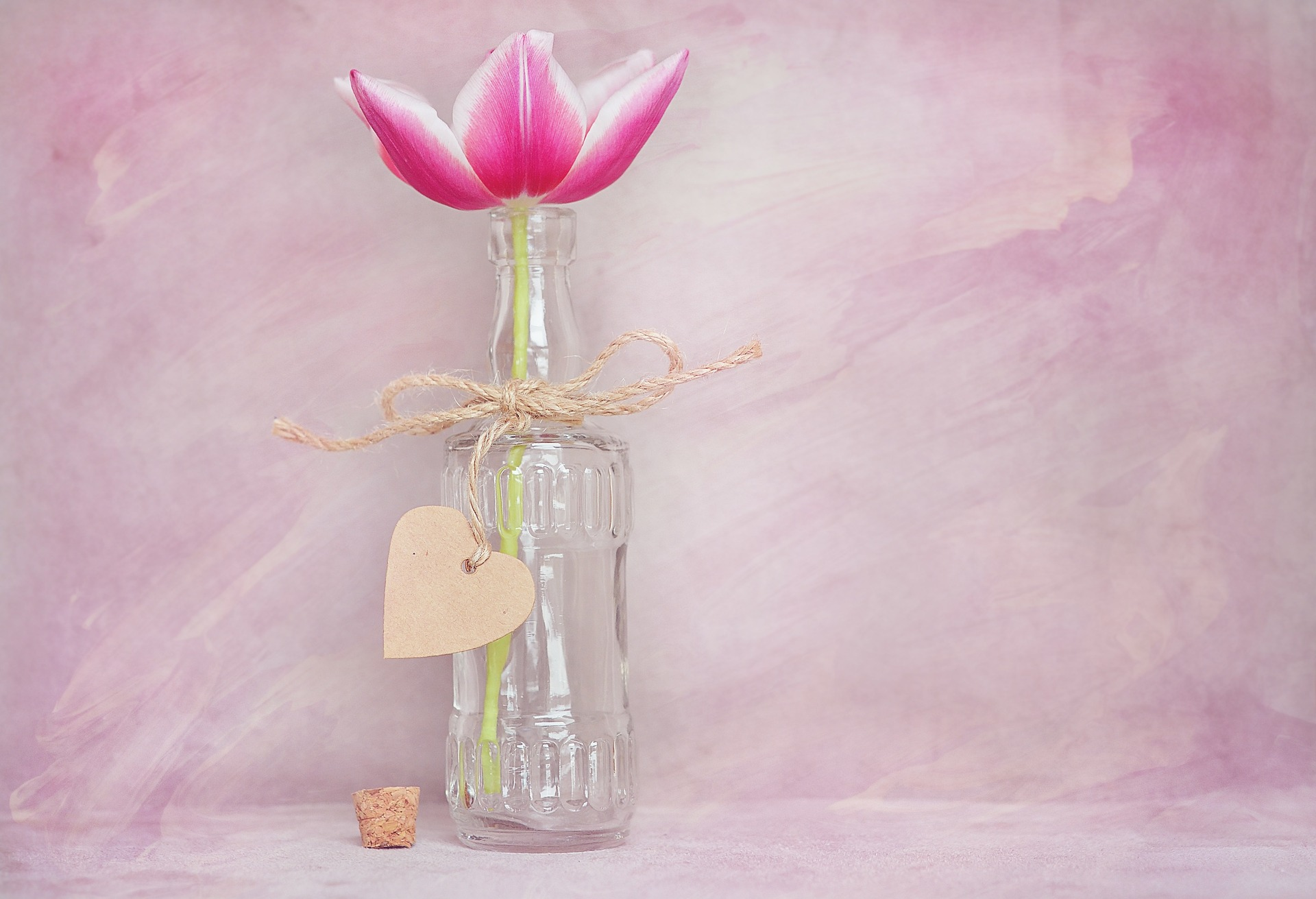 bottle flower vase