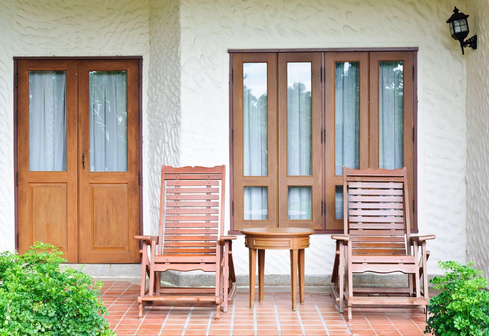 dual rocking porch chair