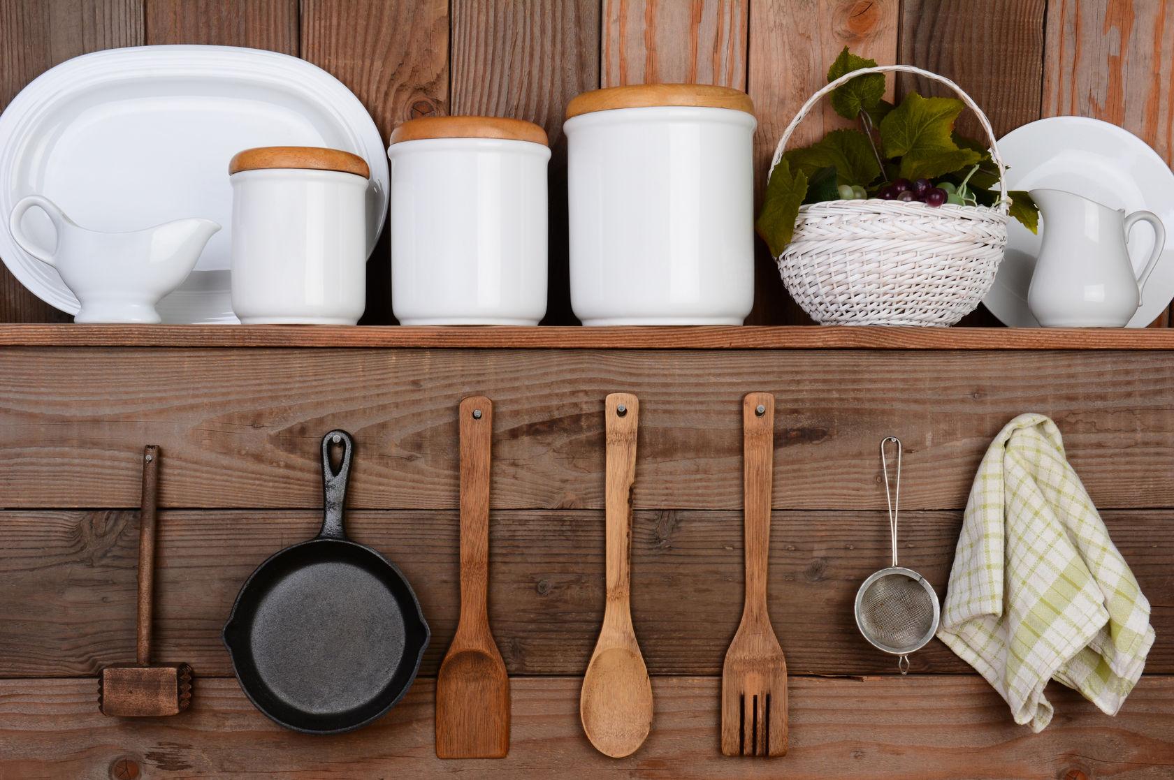 rustic kitchen organization