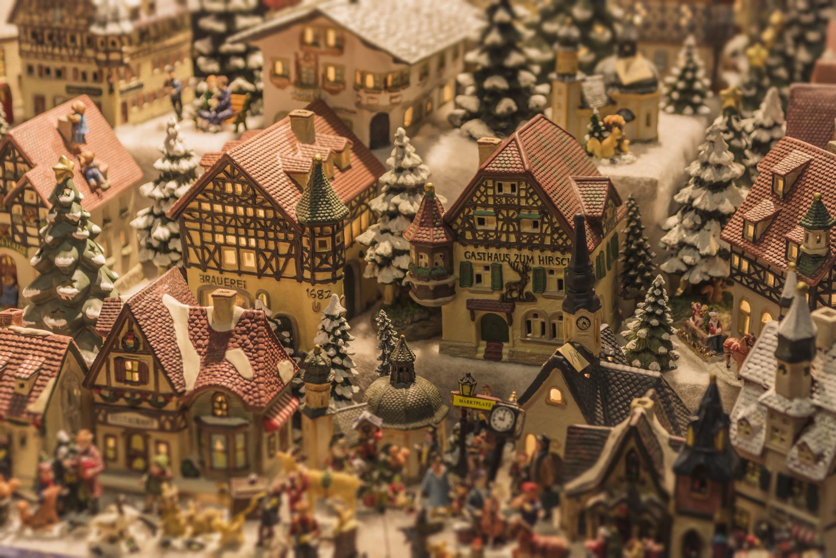 miniature christmas village
