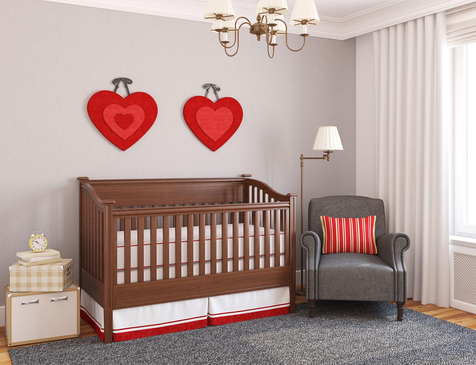 nursery room crib