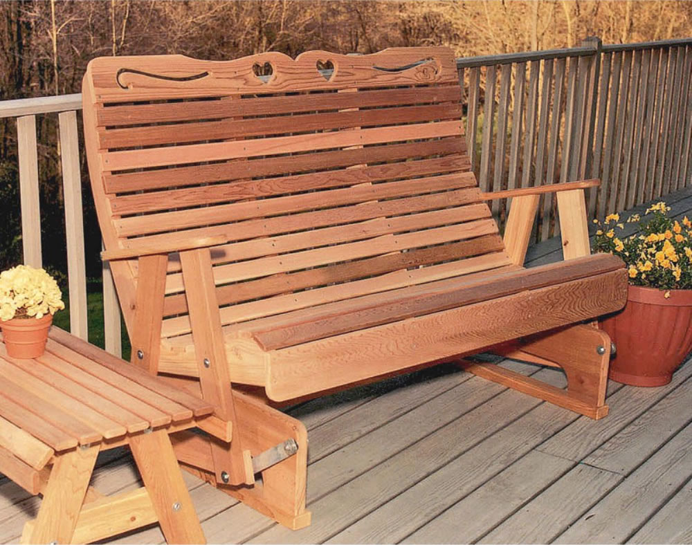 porch rocking bench