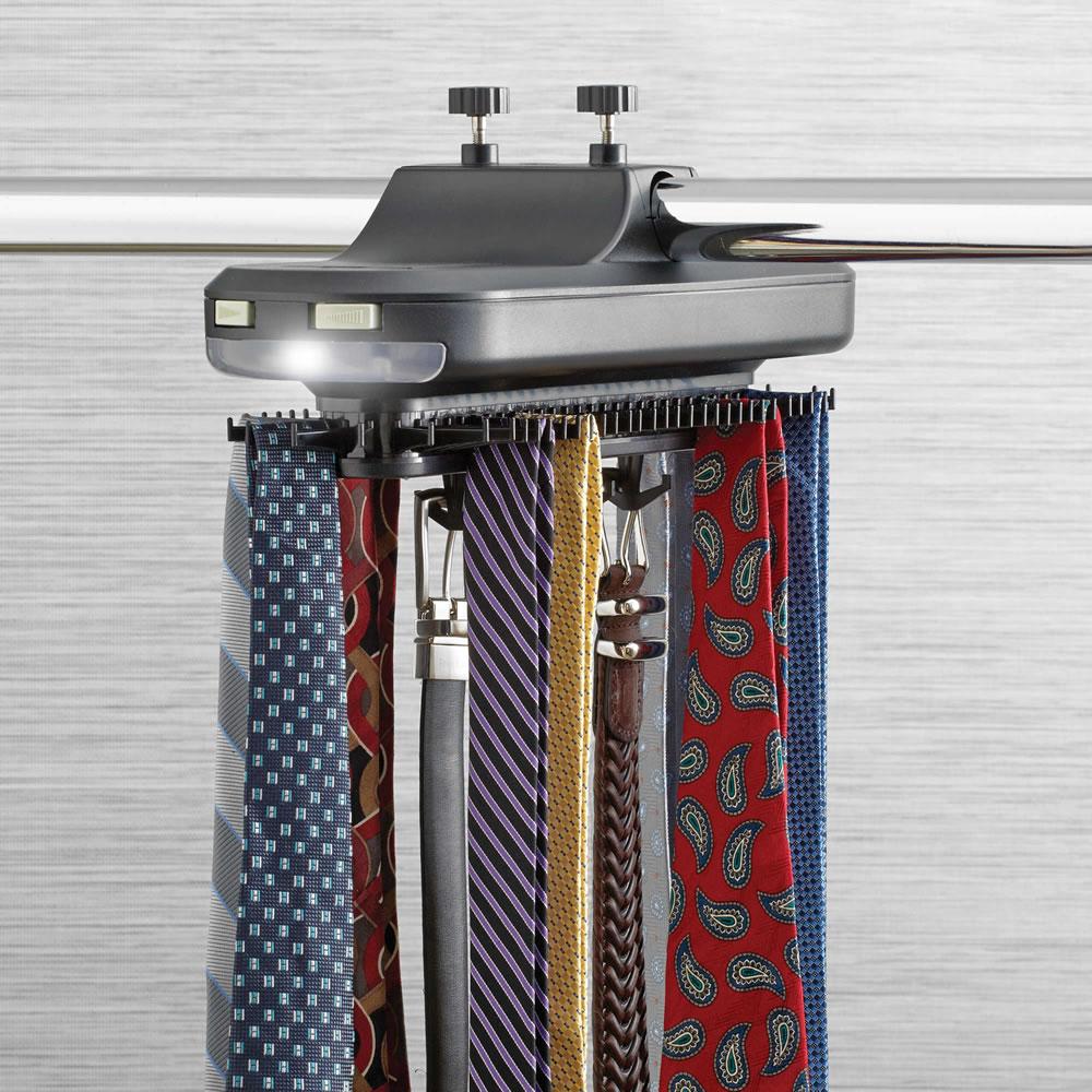 closet tie organization
