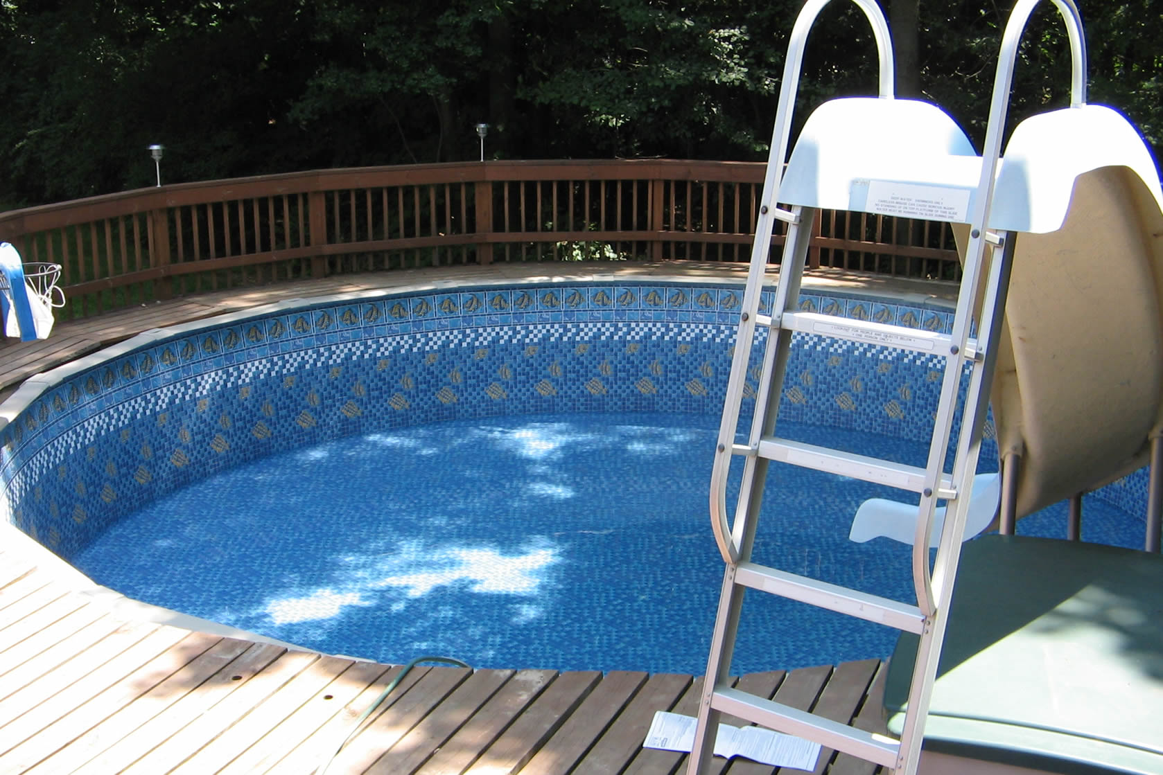 above ground pool slider