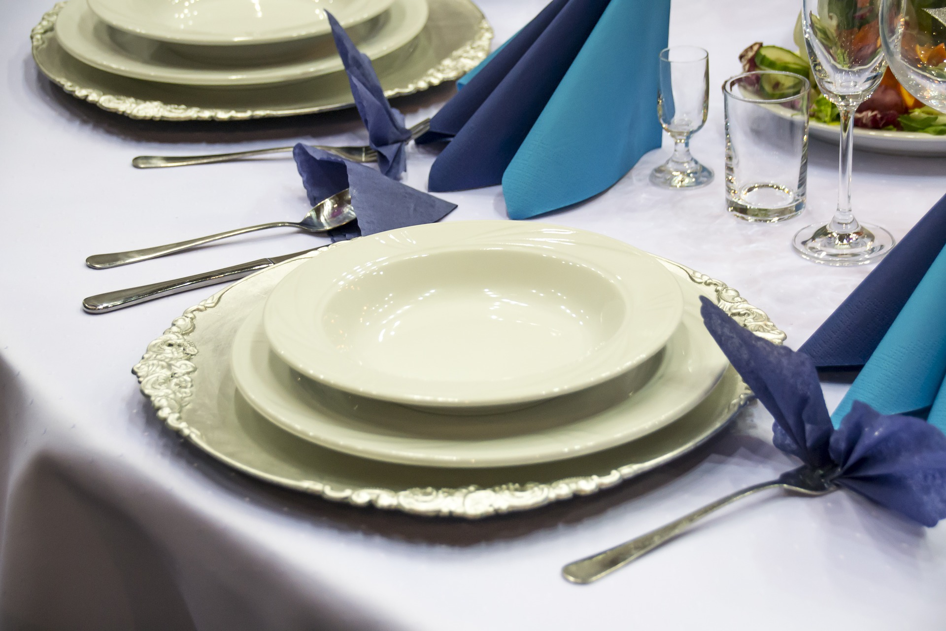 table setting with find dinnerware