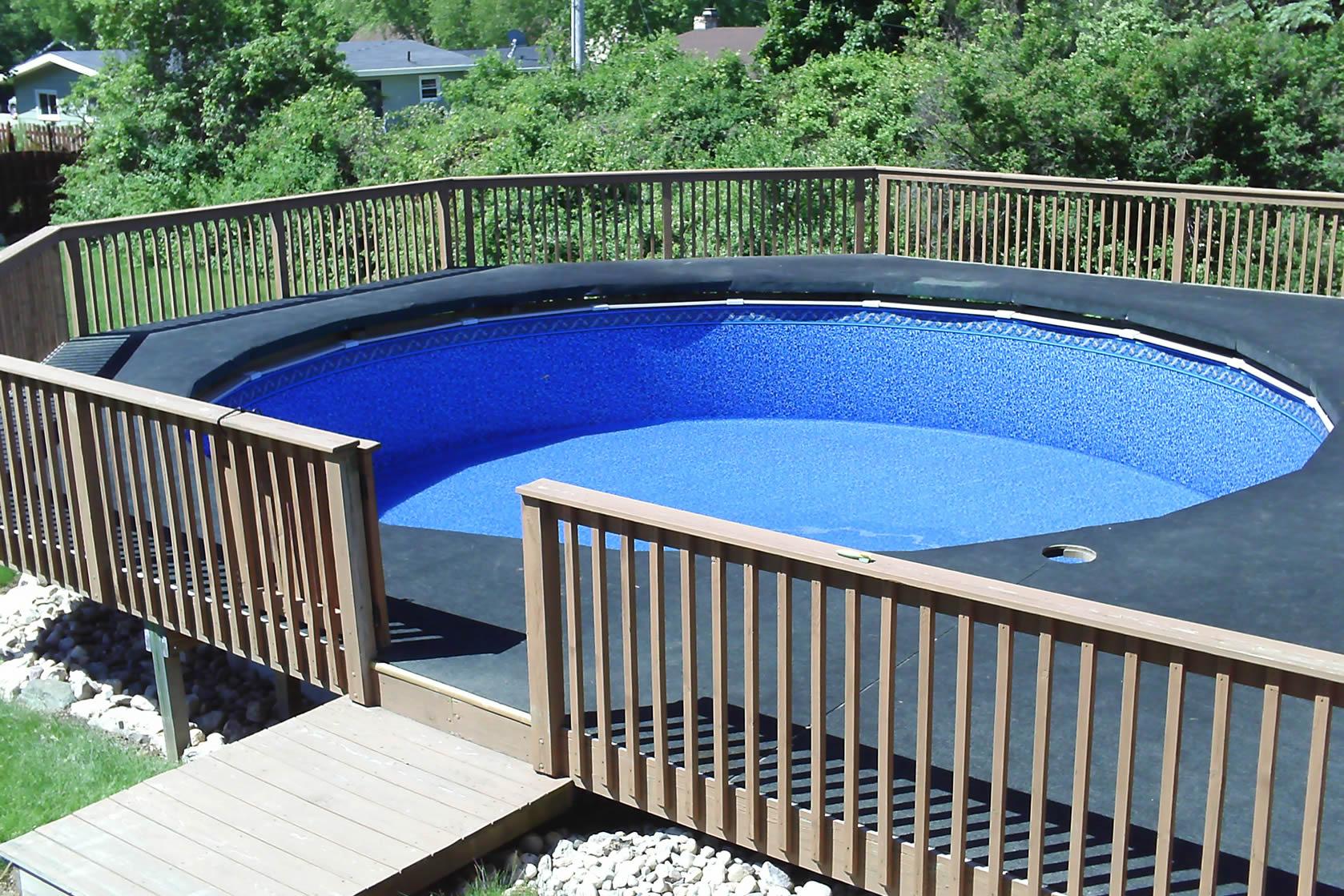 walk up deck pool