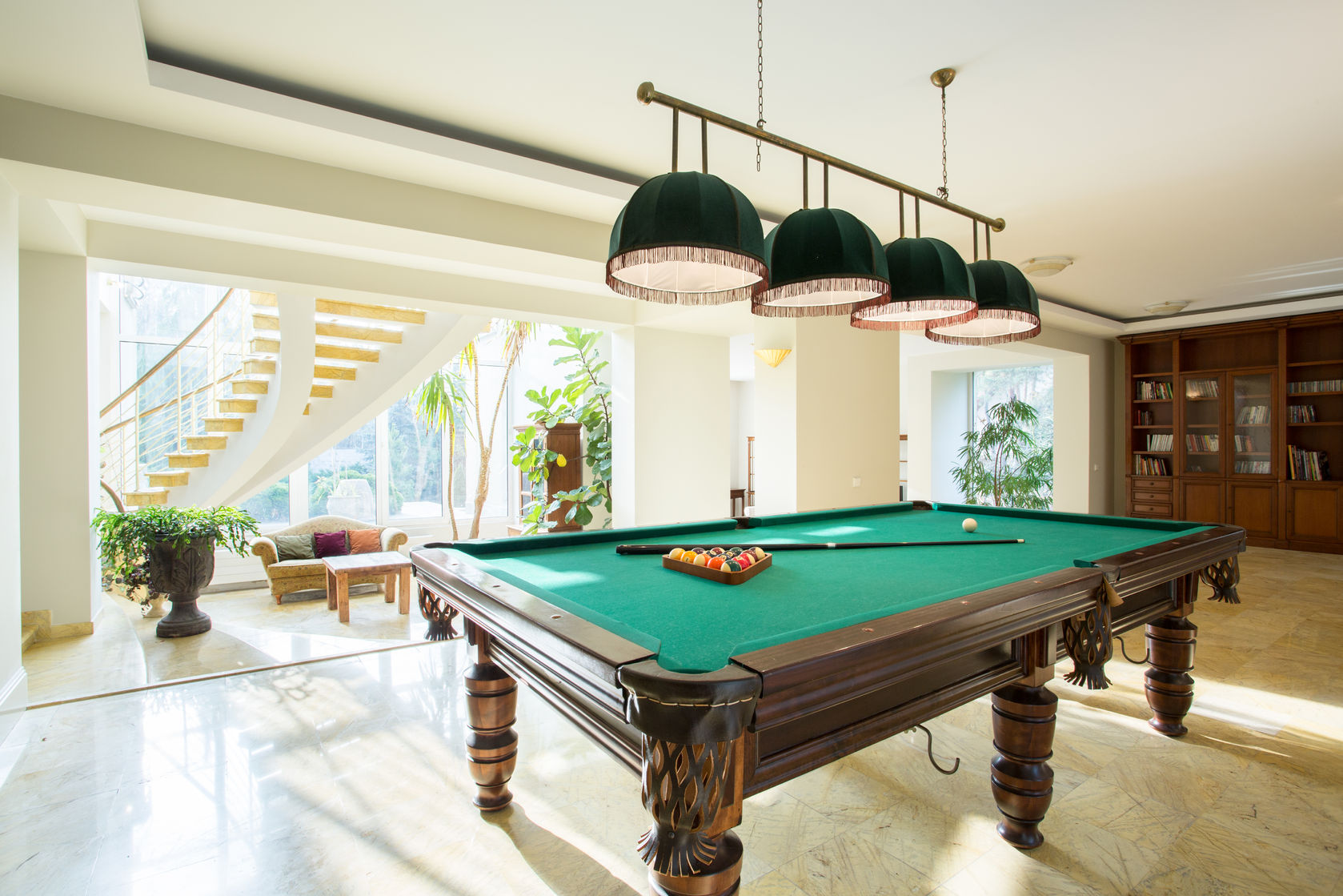 rec room billiard table