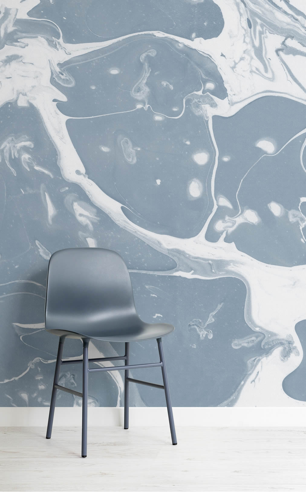blue lifestyle marbled mural