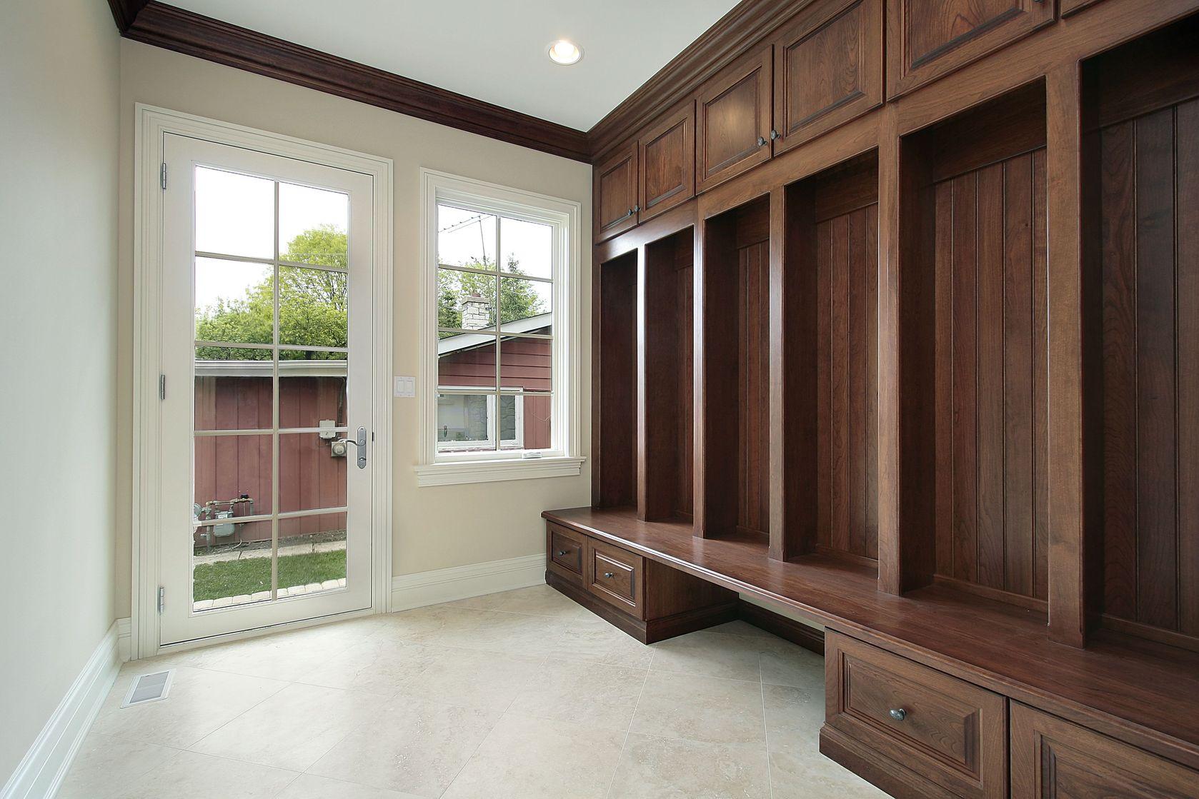 mudroom storage cabinets