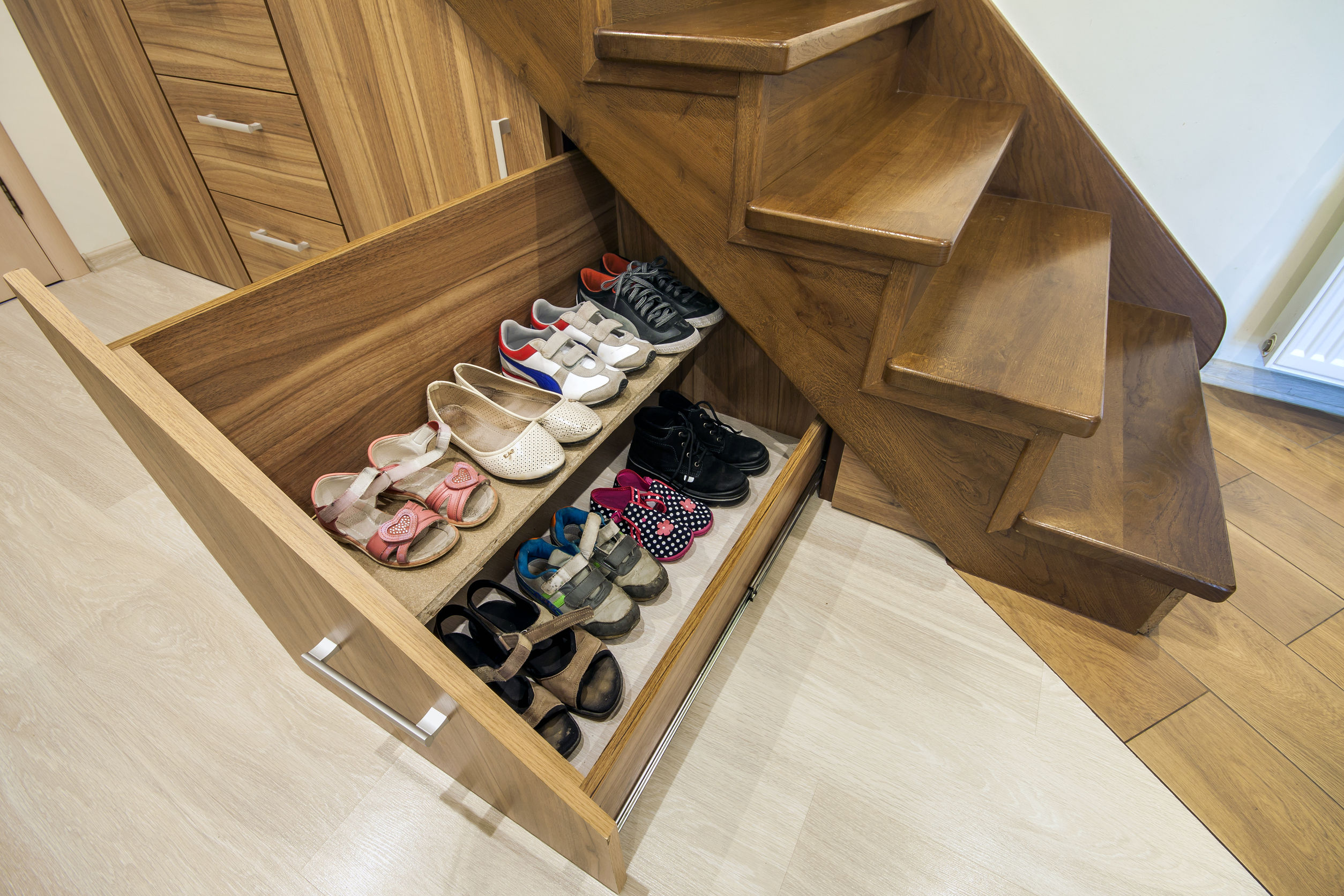 stair shoe storage