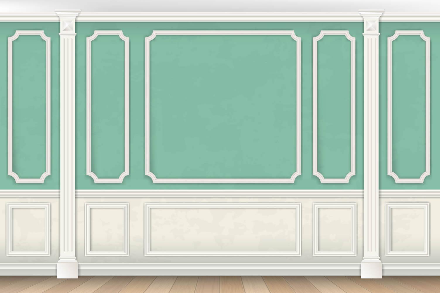 green paneled wall
