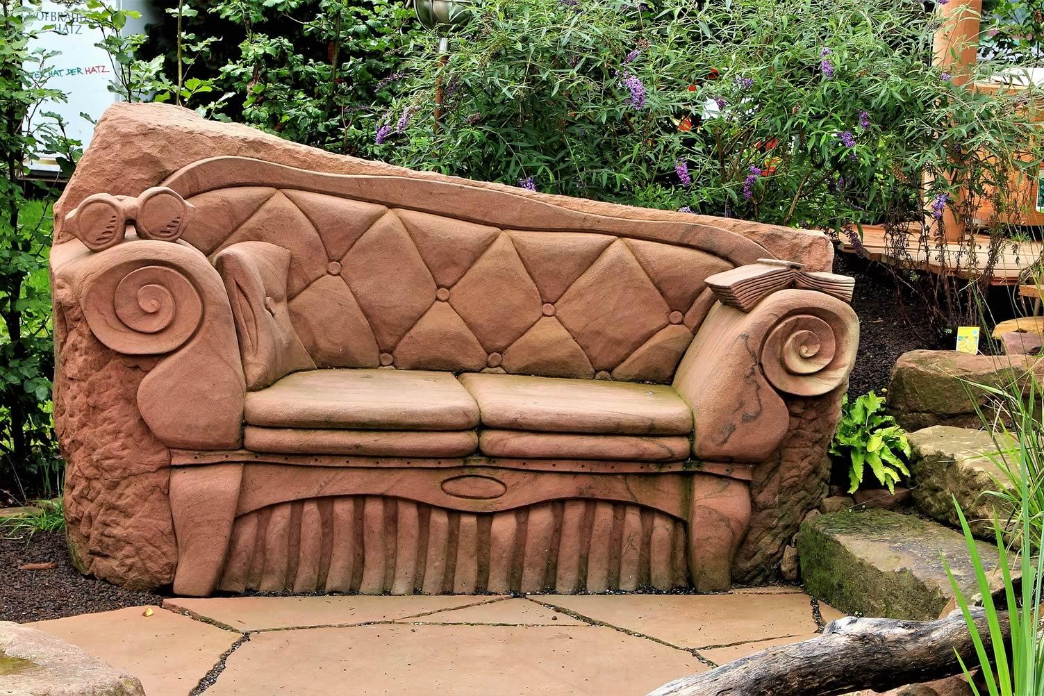 stone garden sofa