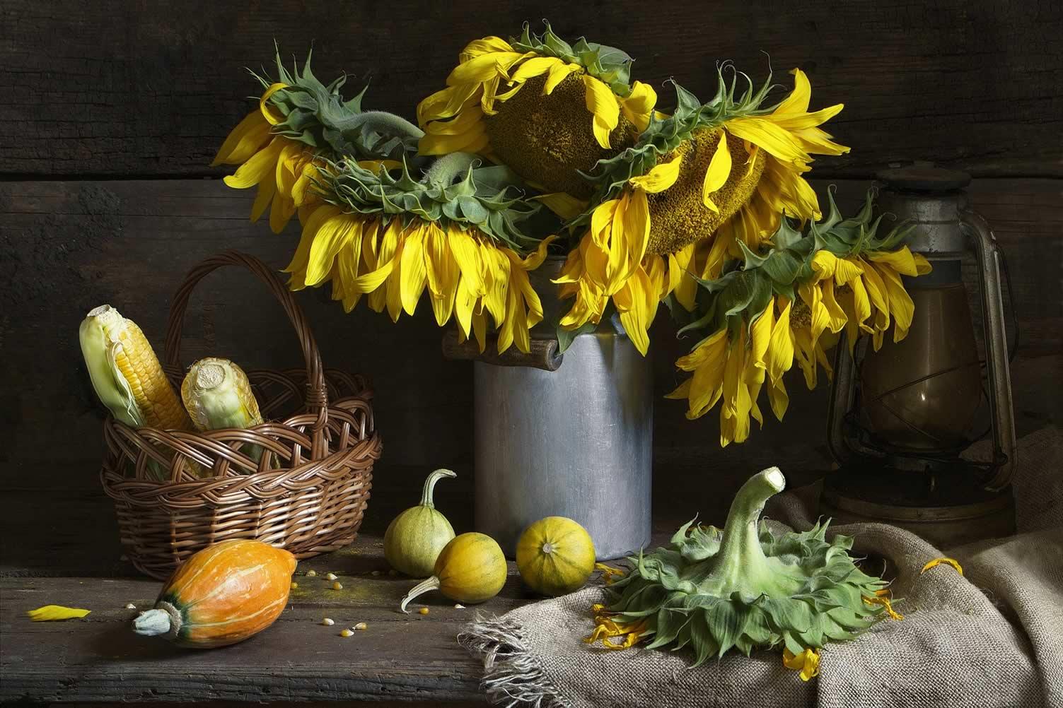 sunflower autumn decor