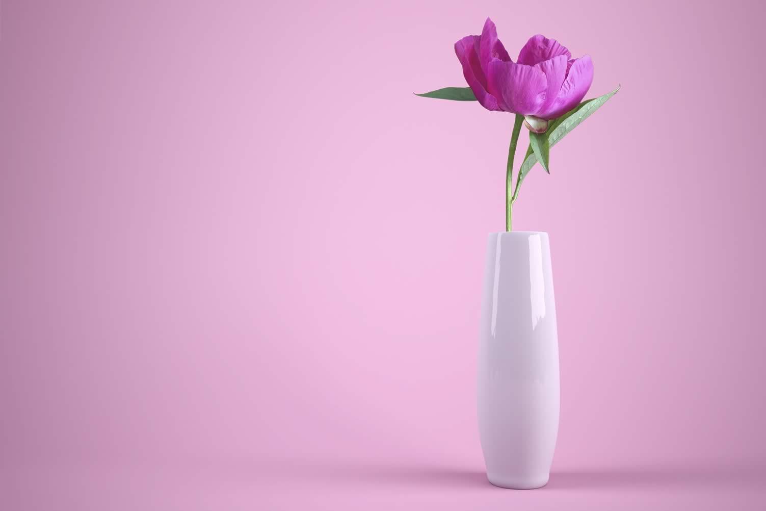 simple floral vase