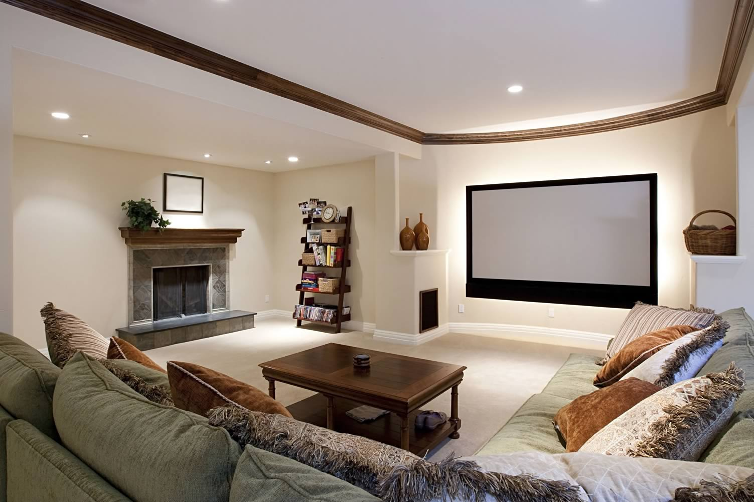 basement recreation space