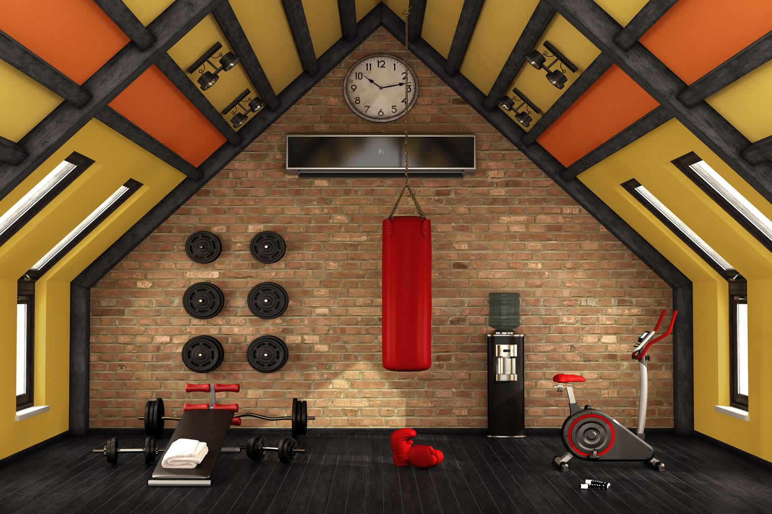attic fitness room