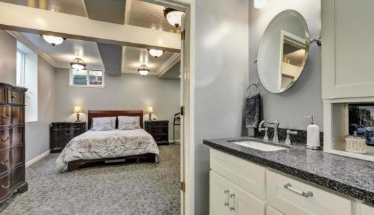 <span>photo image analysis:</span> Basement Guest Bedroom