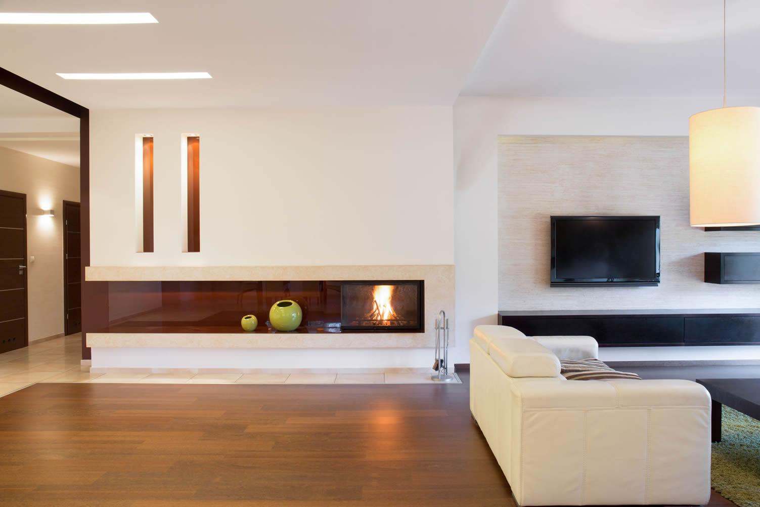 modern fireplace units