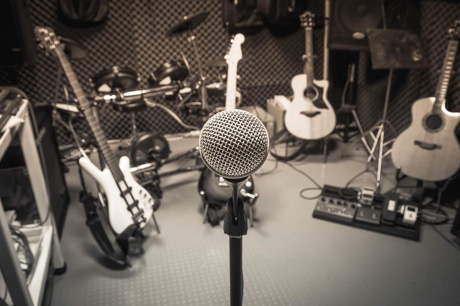 basement music room