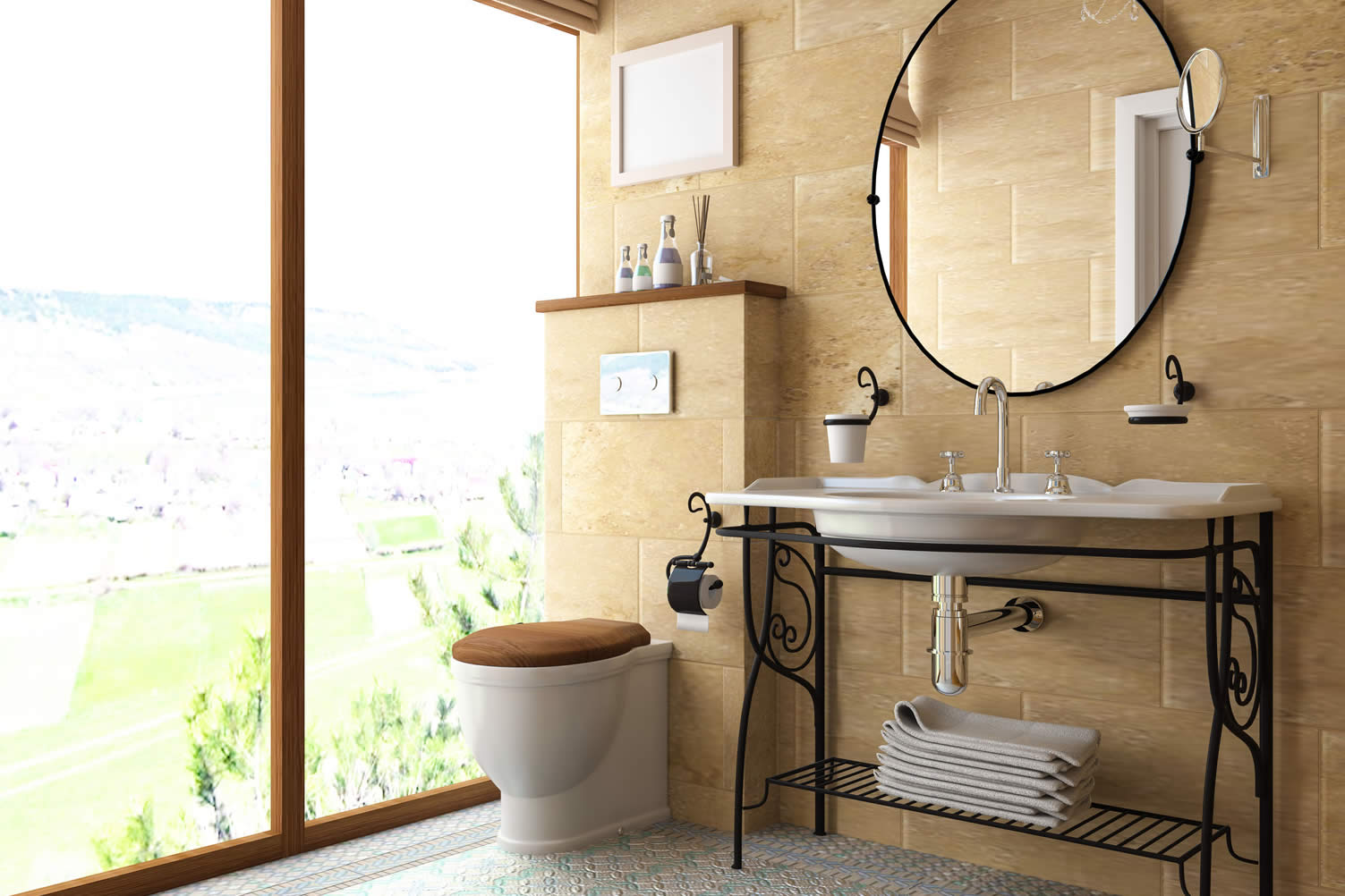 wall mounted bath sink