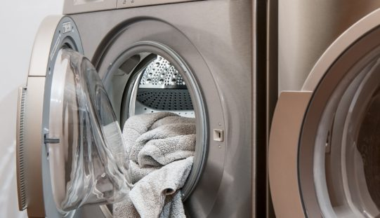 Colorful Front-Loaded Laundry Appliances