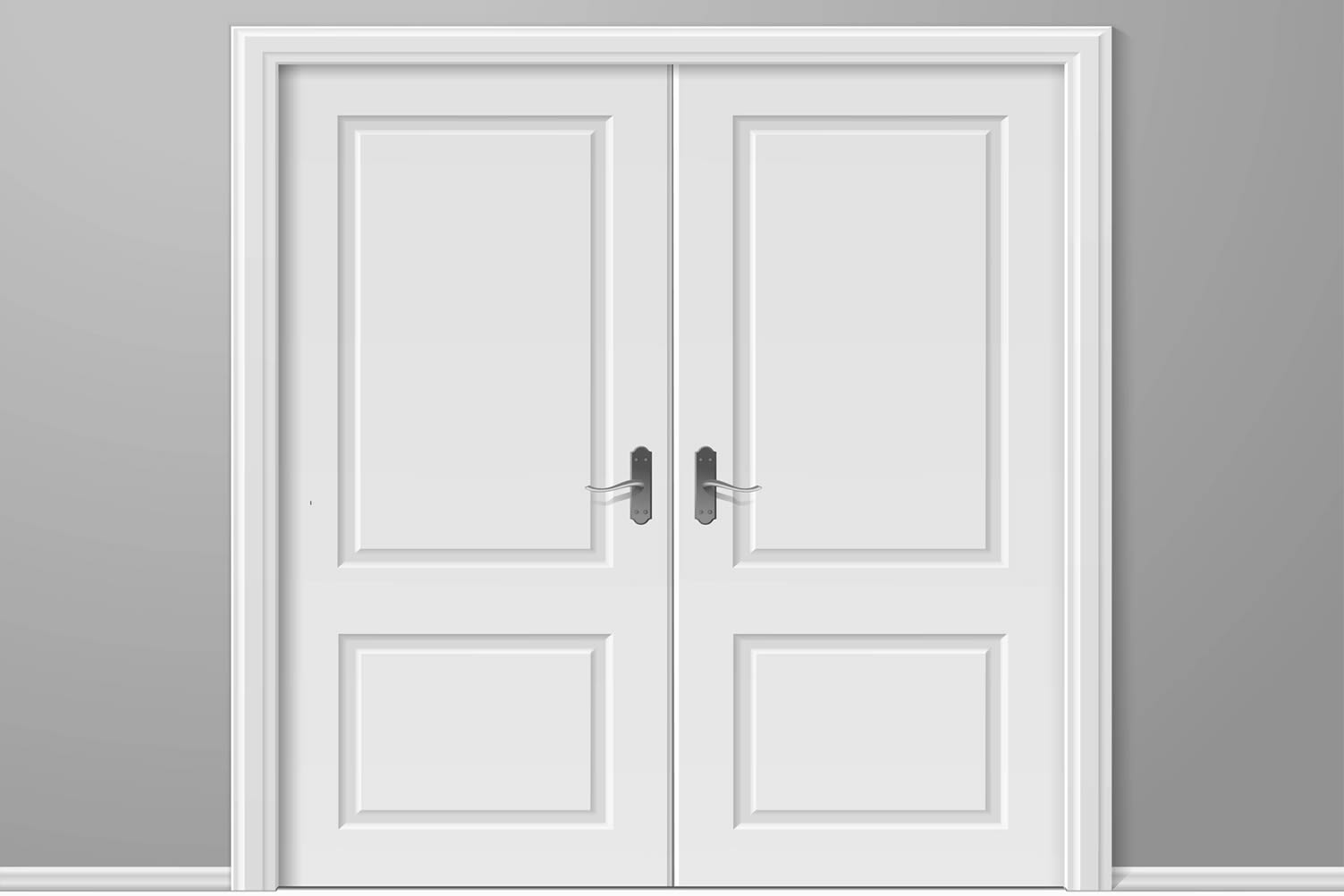 white paneled doors