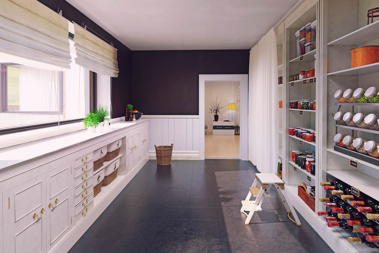 design kitchen pantry